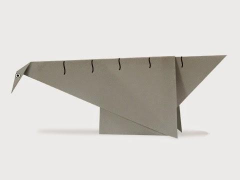 Hướng dẫn cách gấp con khủng long cổ dài Seismosaurus bằng giấy đơn giản - Xếp hình Origami với Video clip
