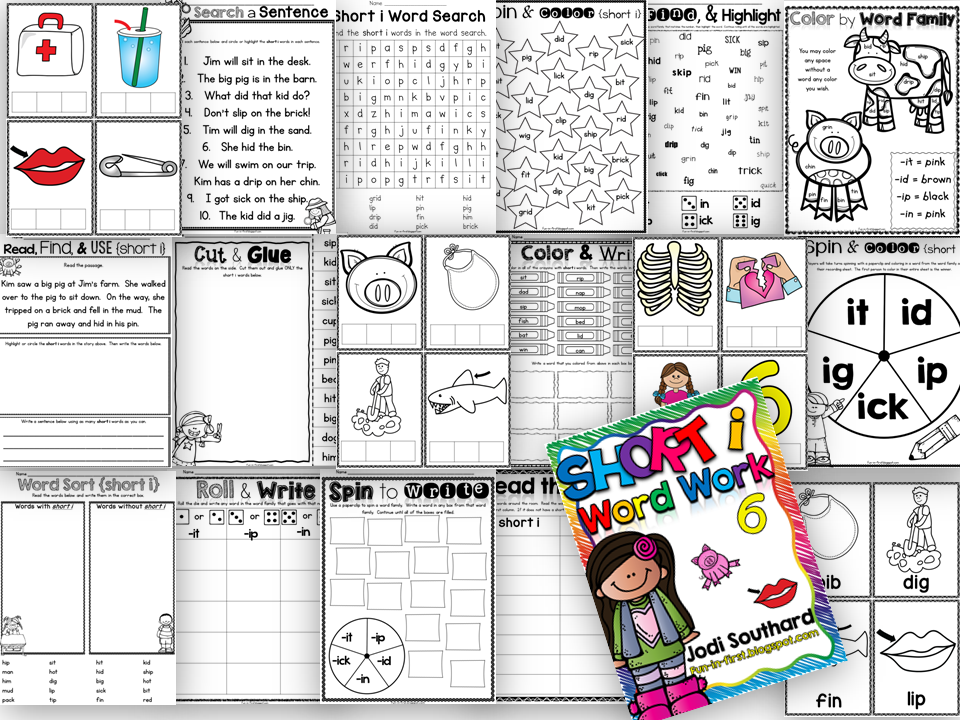 http://www.teacherspayteachers.com/Product/Word-Work-with-Short-i-1420116