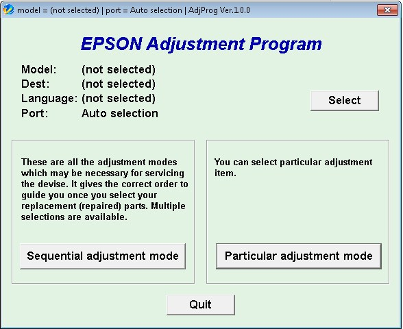 resetter Printer Epson L100 L210 L300