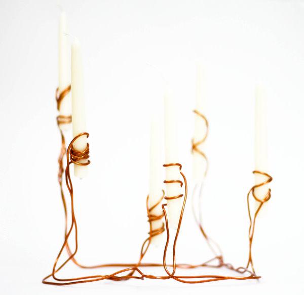 DIY Kerzenständer aus Kupferdraht