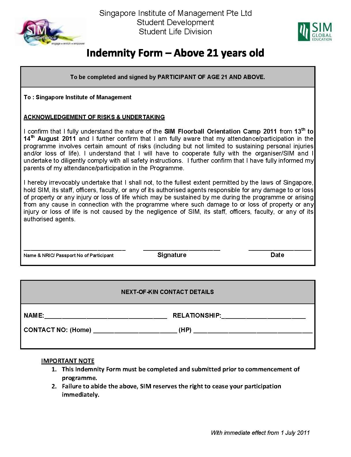 83+ Indemnity Form Template - Indemnity Form Template, Auto ...