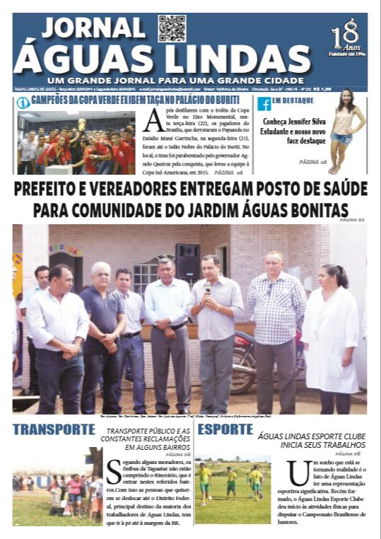 ediçao 213 do Jornal Águas Lindass