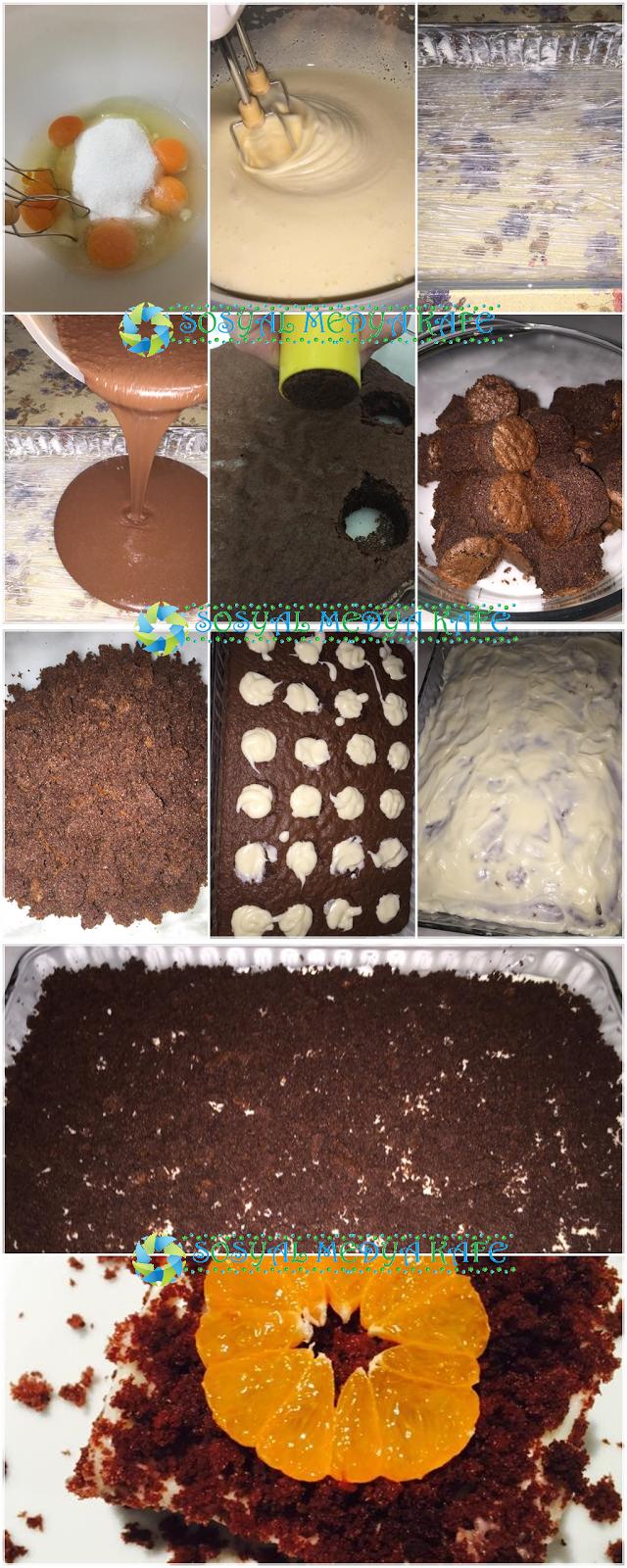 dolgu kremalı kek nasıl yapılır resimli anlatım