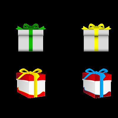 تحميل الرموز هدايا مجانا { PNG / Vector }
