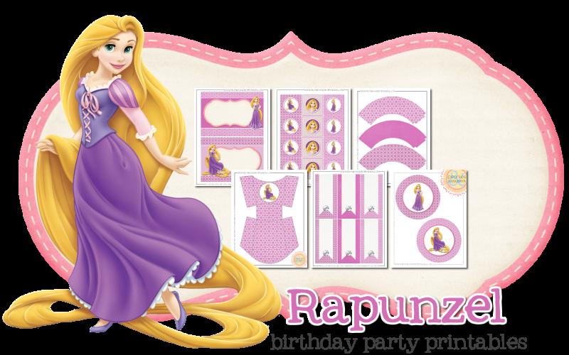 Imprimible gratis de Rapuncel - Fiesta de princesas