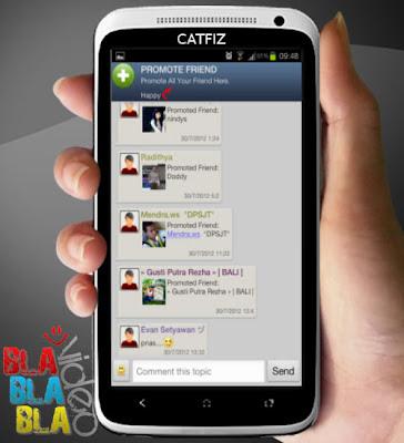 Gambar Chatting Catfiz Aplikasi BBM untuk Android