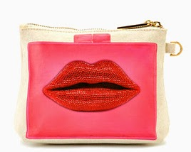 Thursday Friday Away Mini Clutch Lips Pattern