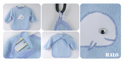 Sew terry cloth bib