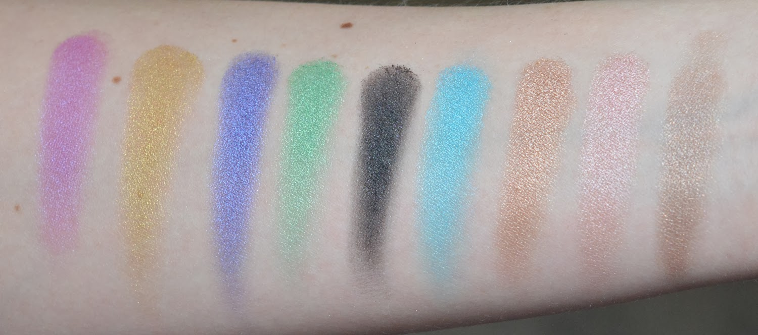 Urban Decay Shadow Box Swatches