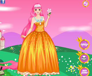 Juego de vestir a la princesa Rapunzel