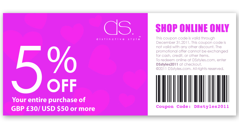 Toto workshop coupon ticket design ds for House to home designs coupon