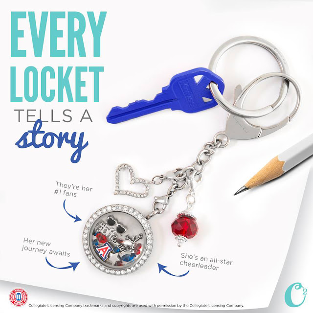 Ready for School Origami Owl Bag Clip + Keychain available at StoriedCharms.com