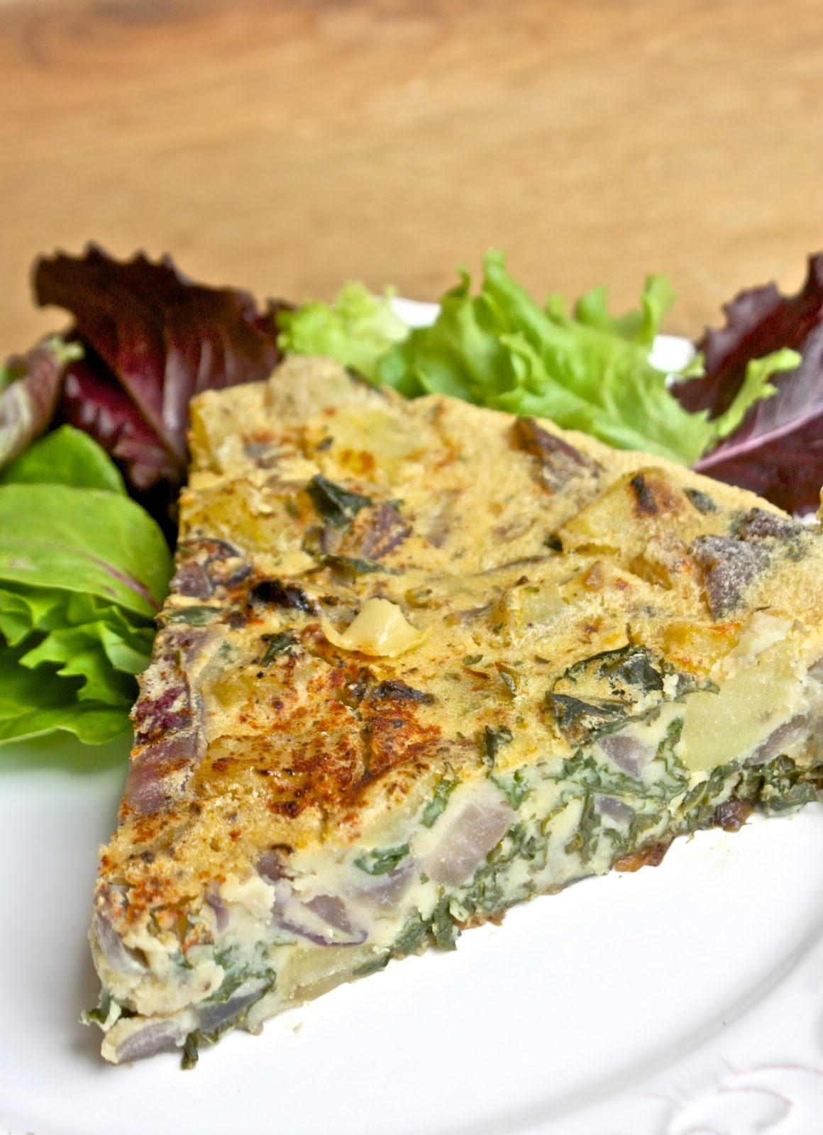 Helyn's Healthy Kitchen: Potato-Kale-Onion Frittata ~ Plant-based and ...