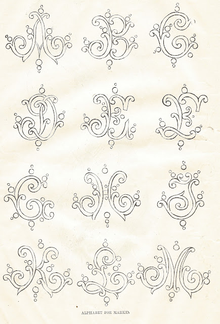 Alphabet Clip Art Antique Graphic