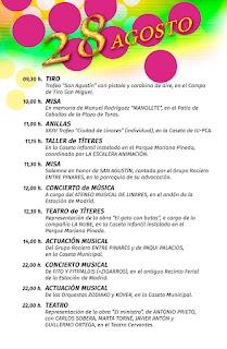 PROGRAMA DÍA 28 DE AGOSTO   Feria de San Agustín 2015  LINARES