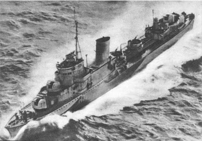 ORP Blyskawica  Polish distroyer- WW2 Battle of Atlantic