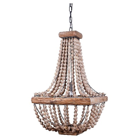 Lovely wood beaded chandelier Target