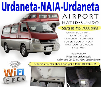 Arrive Safely in Urdaneta, and in style (^^)