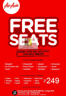 AirAsia FREE Seats International Destination 2012