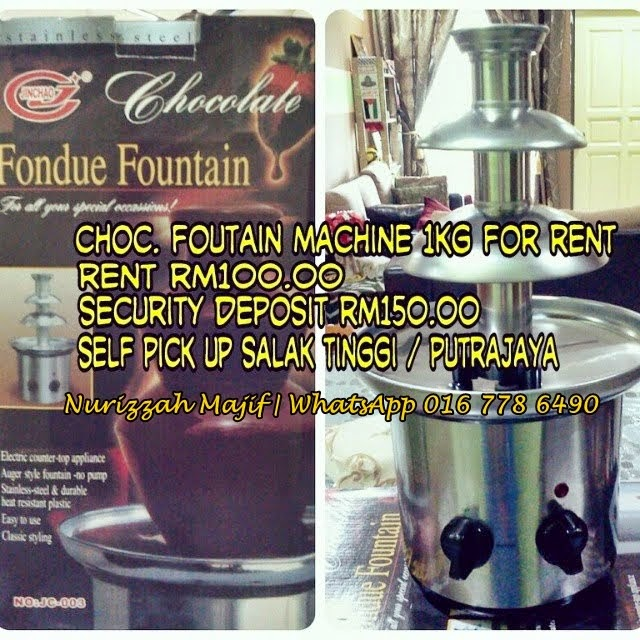 ~Sewa Mesin Choc.Fountain 1kg~