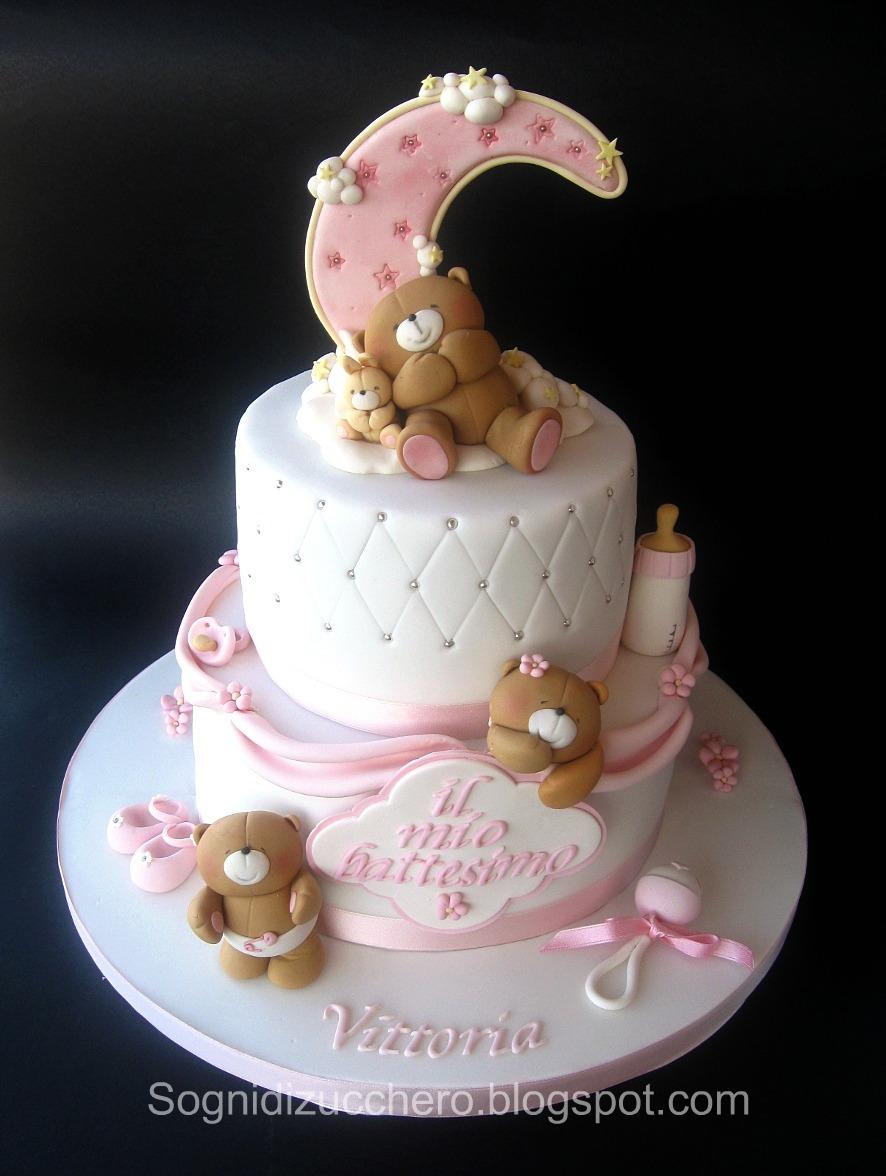 Favoloso sogni di zucchero: Battesimo in rosa LJ67