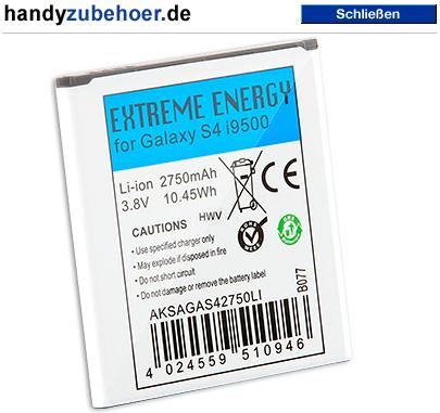 Extreme Energy Akku für Galaxy S4