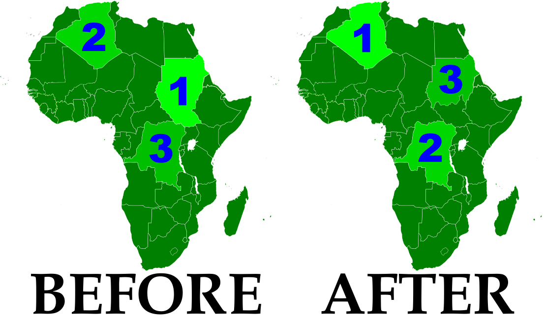 Political Geography Now October - Largest country in africa