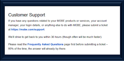 Mobe customer support