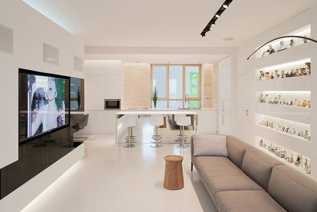 Apartamento Blanco Minimalista Minimalistas 2015