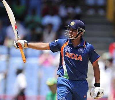 Suresh Raina after scoring a 59-ball century
