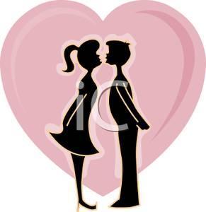 تبادل القبلات يزيد مناعة الجسم - kiss cartoon