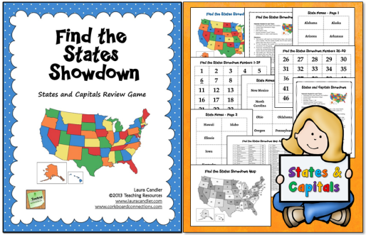 Find the States Showdown is an interactive game from Laura Candler that will help your students learn the 50 US states and their capitals.