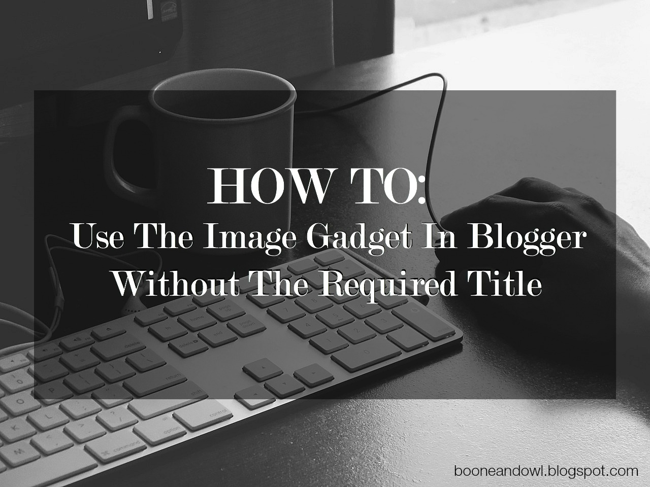 Use image gadget in blogger without required title