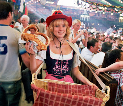 A German woman at Oktoberfest