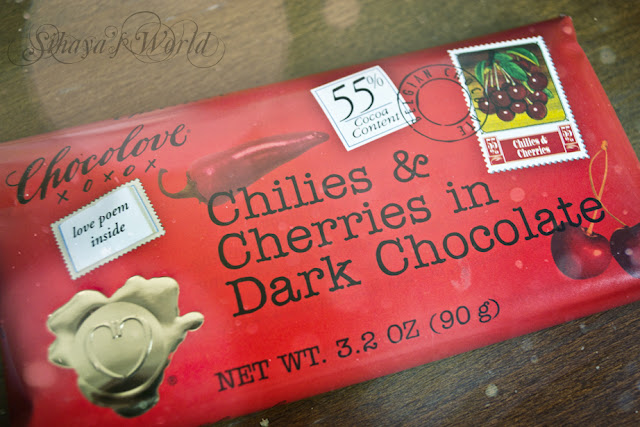 Chocolove Chillies&Cherries in Dark Chocolate 3.2 oz/90 gr 2.7$