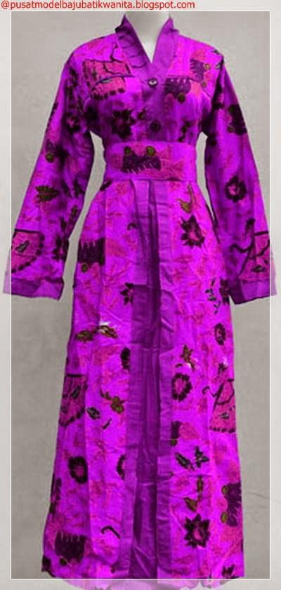 Model Baju Batik Gamis Wanita Terbaru Gambar Model Baju