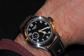 Montre Hanhart Pioneer Preventor9 cadran noir référence 752.210-011
