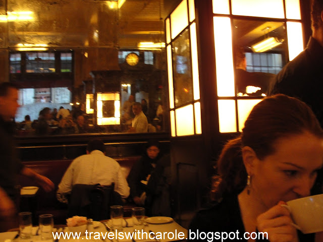 grand interior of Balthazar in NYC