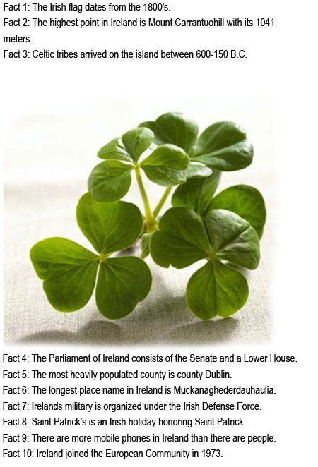 Fun facts about Ireland for kids