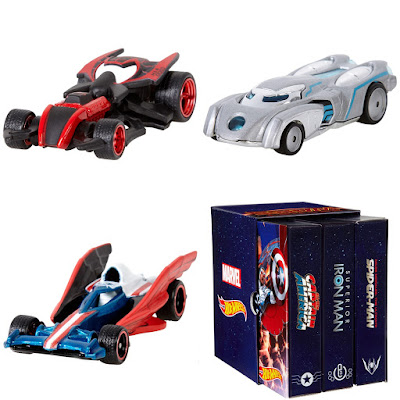 San Diego Comic-Con 2015 Exclusive Marvel Secret Wars Hot Wheels Character Car 3 Pack - Ultimate Spider-Man, Superior Iron Man & Captain America