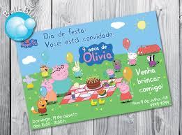 convite de aniversario pepa pig