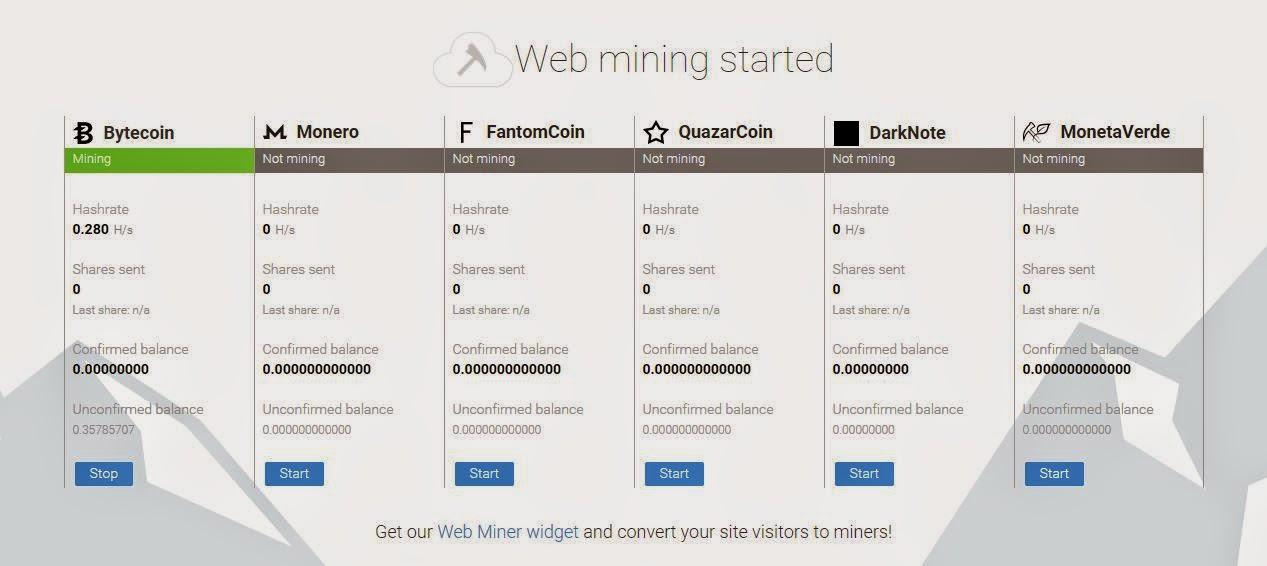 Mining xmr di MinerGate