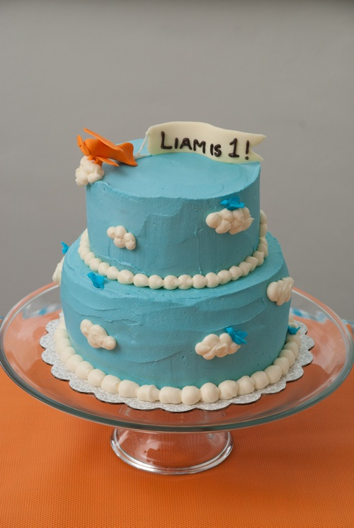 Cake Is Love Abroad An Airplane Cake for First Birthday Boy Liam