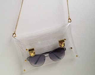 Medium Transparent Clutch Bag