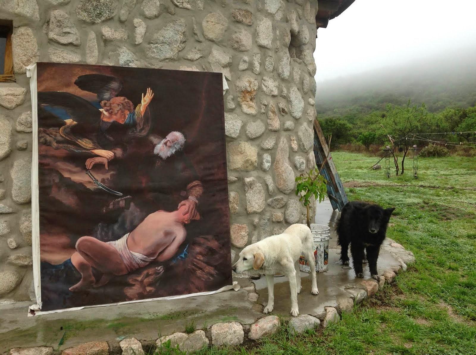 El sacrificio de abraham -rembrandt- ( oil copy )