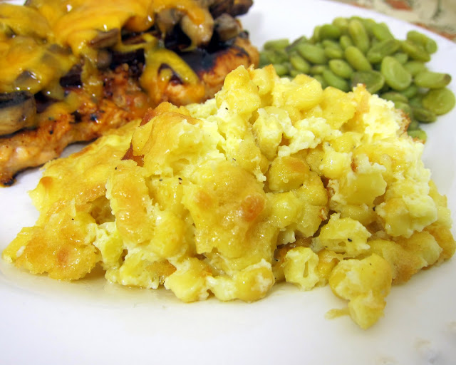 Corn Pudding Casserole Recipe - corn, heavy cream, sugar, butter, eggs - SO delicious. Great way to use up all your summer corn. Perfect for a crowd.