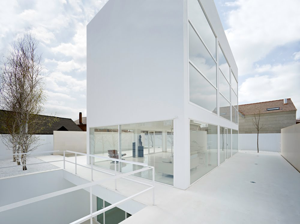 White modern house in spain modern design by for House by design