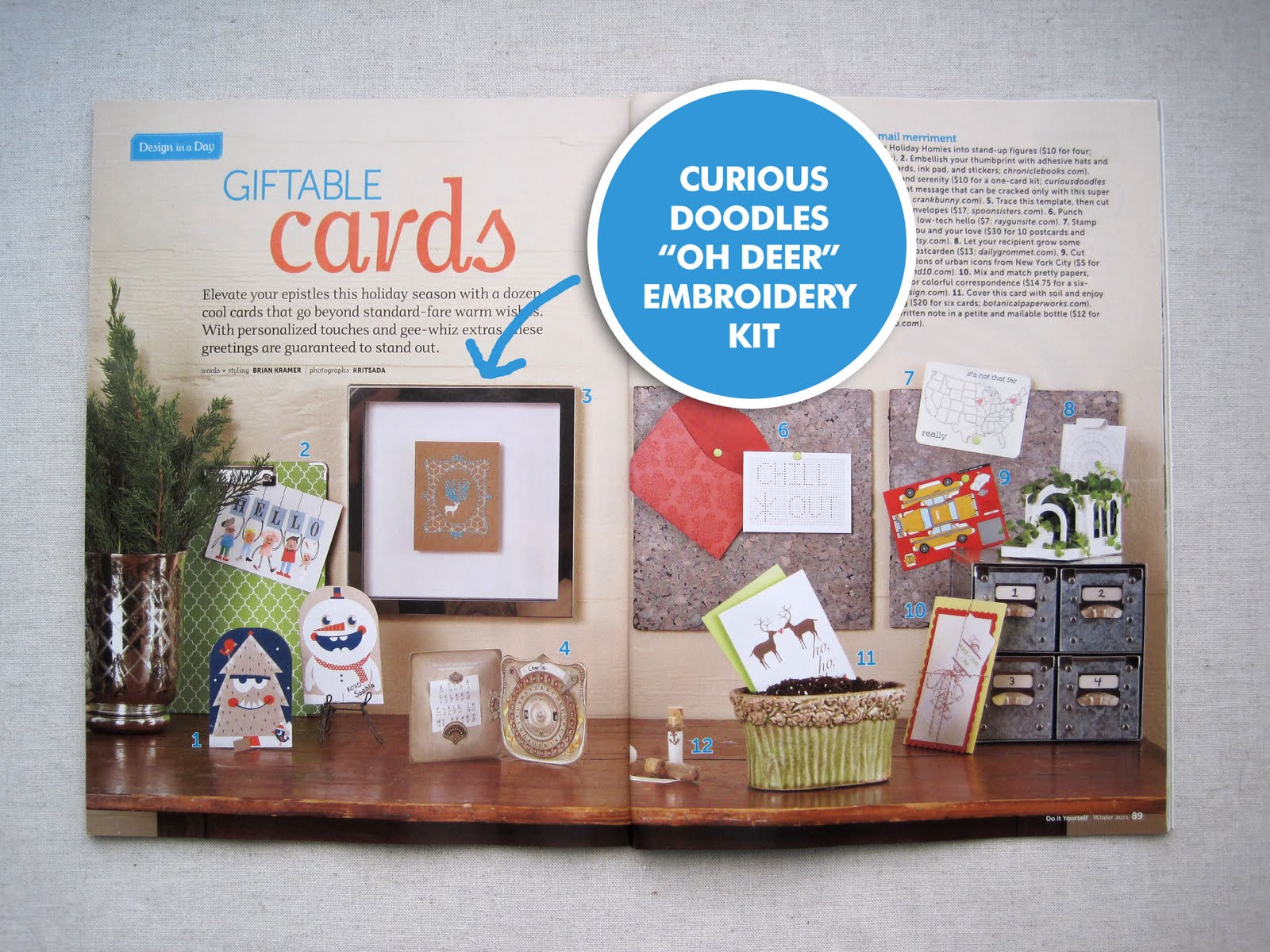Curiousdoodles Do It Yourself Magazine Feature