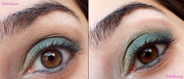smokey eyes verde
