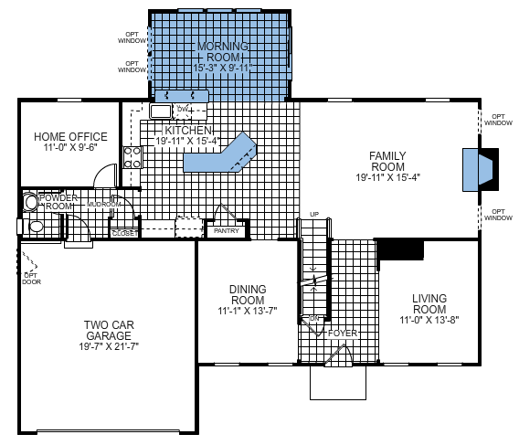 Building a ryan homes ravenna floor plan for Ran homes plans